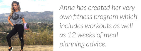 Anna Victoria has created her very own fitness program called The Fit Body Guides