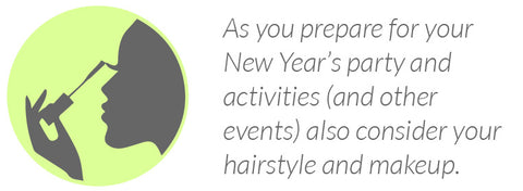 As you prepare for your New Year's party and activities (and other events) also consider your hairstyle and makeup.