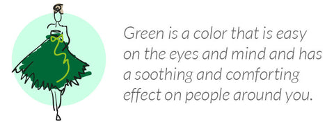 what wearing green says about you