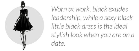 what wearing black says about you