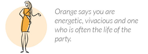 what wearing orange says about you