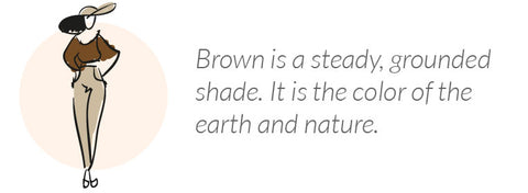 what wearing brown says about you