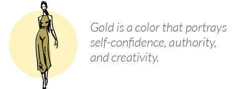 what wearing gold says about you