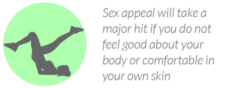 Sex appeal will take a major hit if you do not feel good about your body or comfortable in your own skin