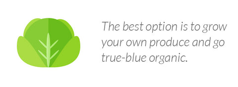 The best option is to grow your own produce and go true-blue organic.