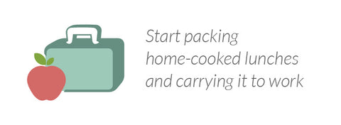 Start packing home-cooked lunches and carrying it to work
