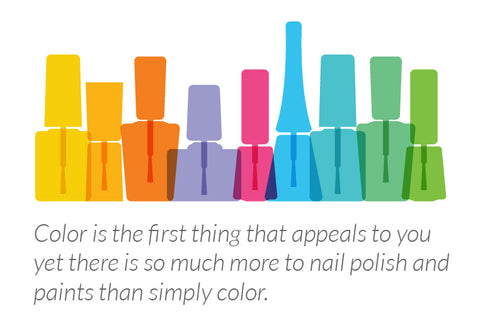 Nail polish is colorful