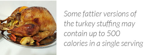Thanksgiving Turkey stuffing may contain 500 calories in a single serving