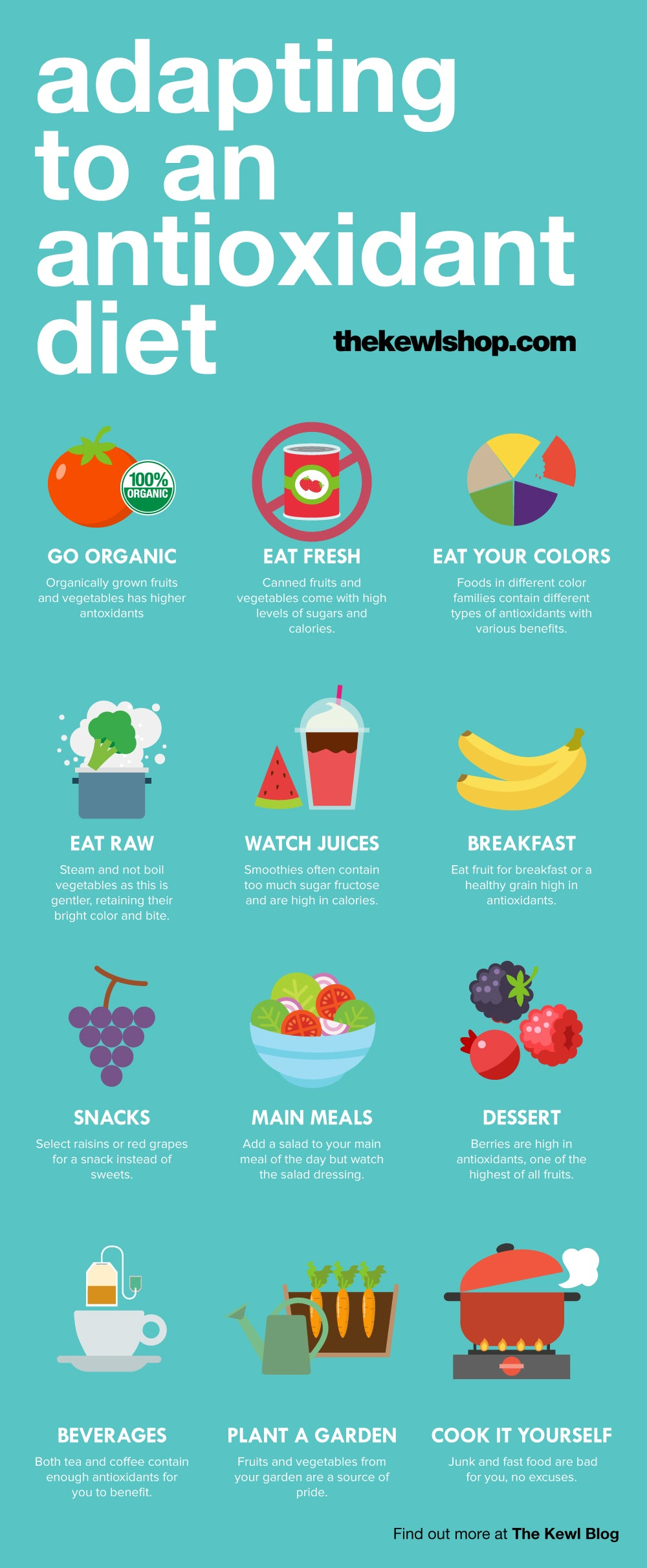 Doing Antioxidants The Right Way, infographic