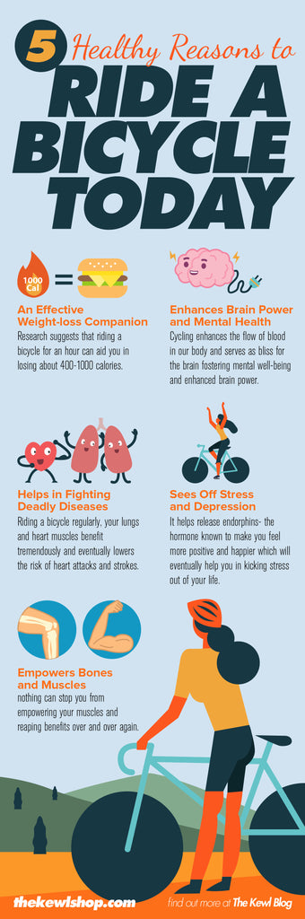 5 Healthy Reasons To Ride A Bicycle Today, infographic