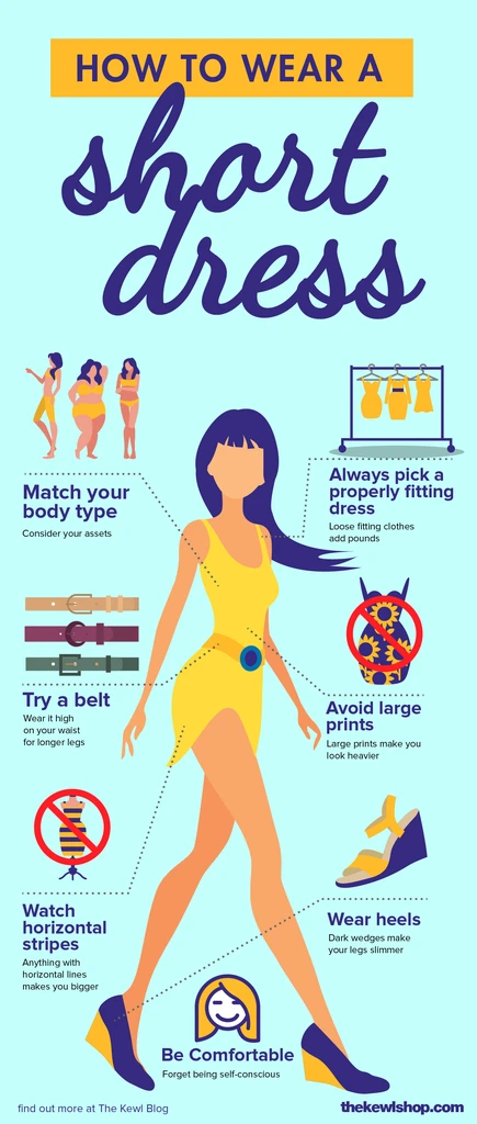 Infographic - How to wear a short dress