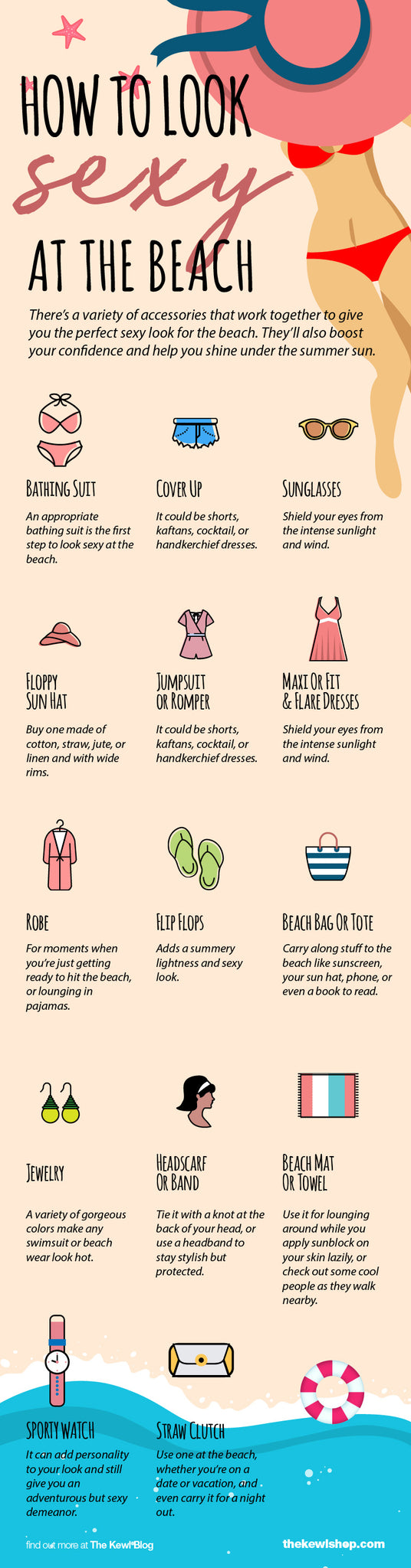 How To Look Sexy at the Beach, Infographic