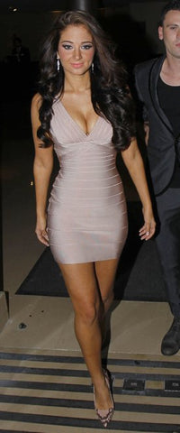 Tulisa Contostavlos bandage dress