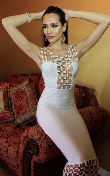 vneck bandage dress