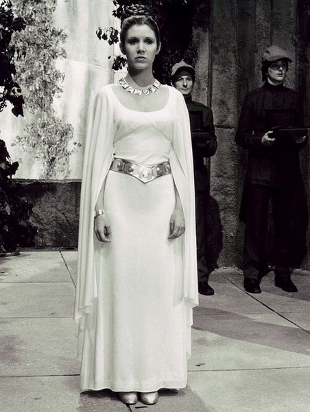 White gown in star wars a new hope movie