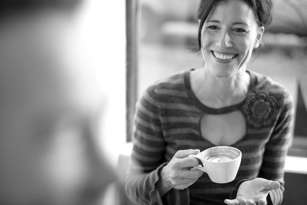 Woman focussing on conversation