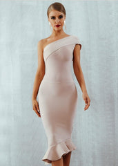 Amelia One Shoulder Bandage Dress (S, M)