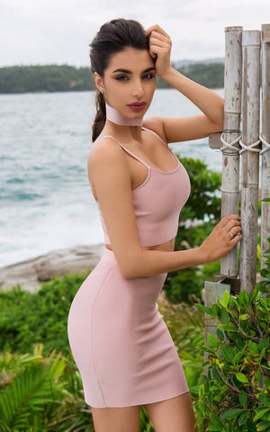 Dream Of Me Two Piece Bandage Dress
