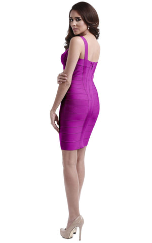Elegant Purple Bandage Dress
