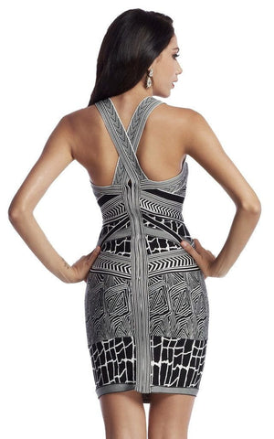 Black & White Print Bandage Dress
