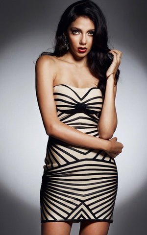 Hot Strapless Bandage Dress