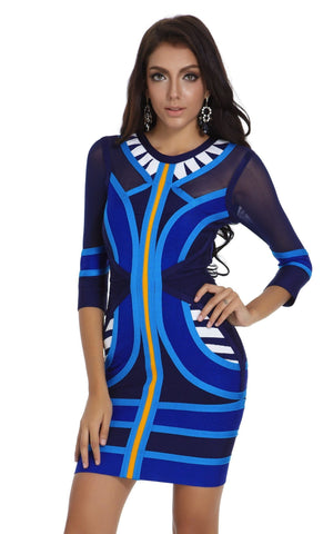 New Fashion Long Sleeve Bandage Dress (M)