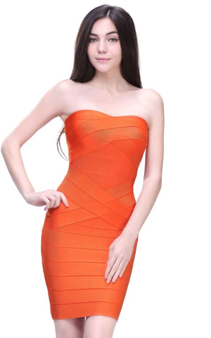 New Strapless Bandage Dress
