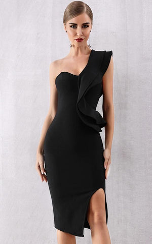 Perfect Love One Shoulder Bandage Dress (XS, S, M, L)