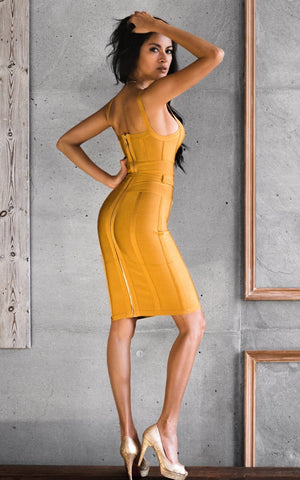 Rufina Ginger Bandage Dress