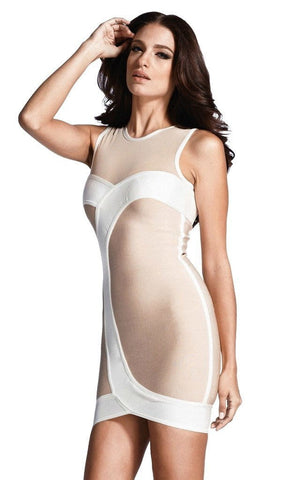 Sexy O-Neck Bandage Dress (L)