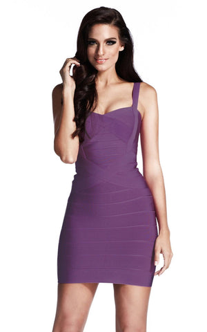 Simple One Color Bandage Dress