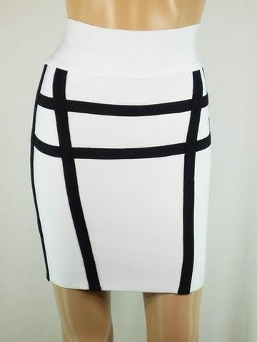 Black and White Bandage Skirt