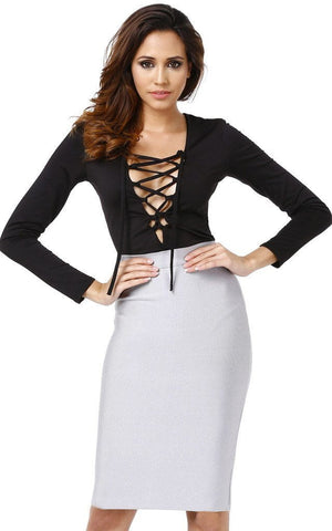 Svelte Grey Bandage Skirt