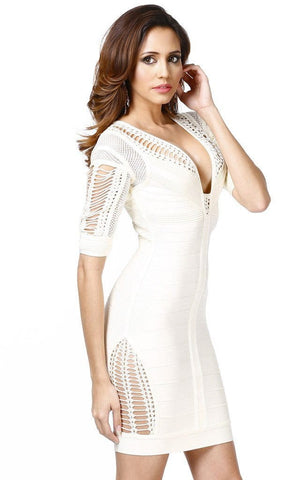 Spanish Chic Cut Out Side Bandage Dress (S,M)