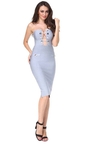 Spanish Grey Bandage Dress
