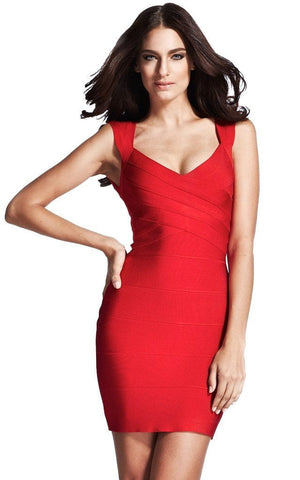 Scarlett Sexy Red Bandage Dress