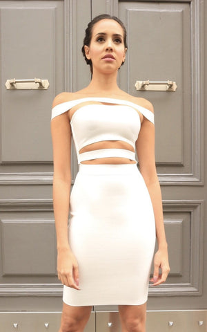 Strapped Off Shoulder Bandage Dress