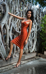 Sweetheart Amber Bandage Dress