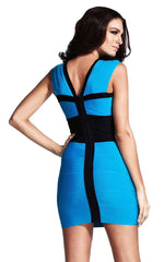 Bandage Ice Blue Cocktail Dress (Sold Out)