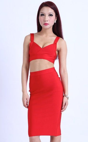 Bandage Red Crop Top