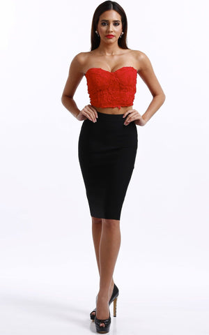 Red Rose Crop Top