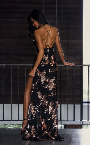 Arabella High Split Maxi Dress (S)