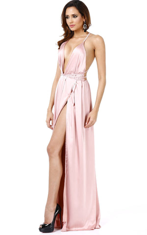 Be Bold Sexy Draped Long Dress