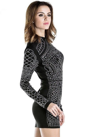 Rhinestone Bodycon Dress