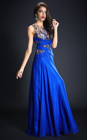 Sassy Blue Evening Gown Dress