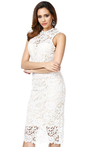Serenity White Lace Bodycon Dress