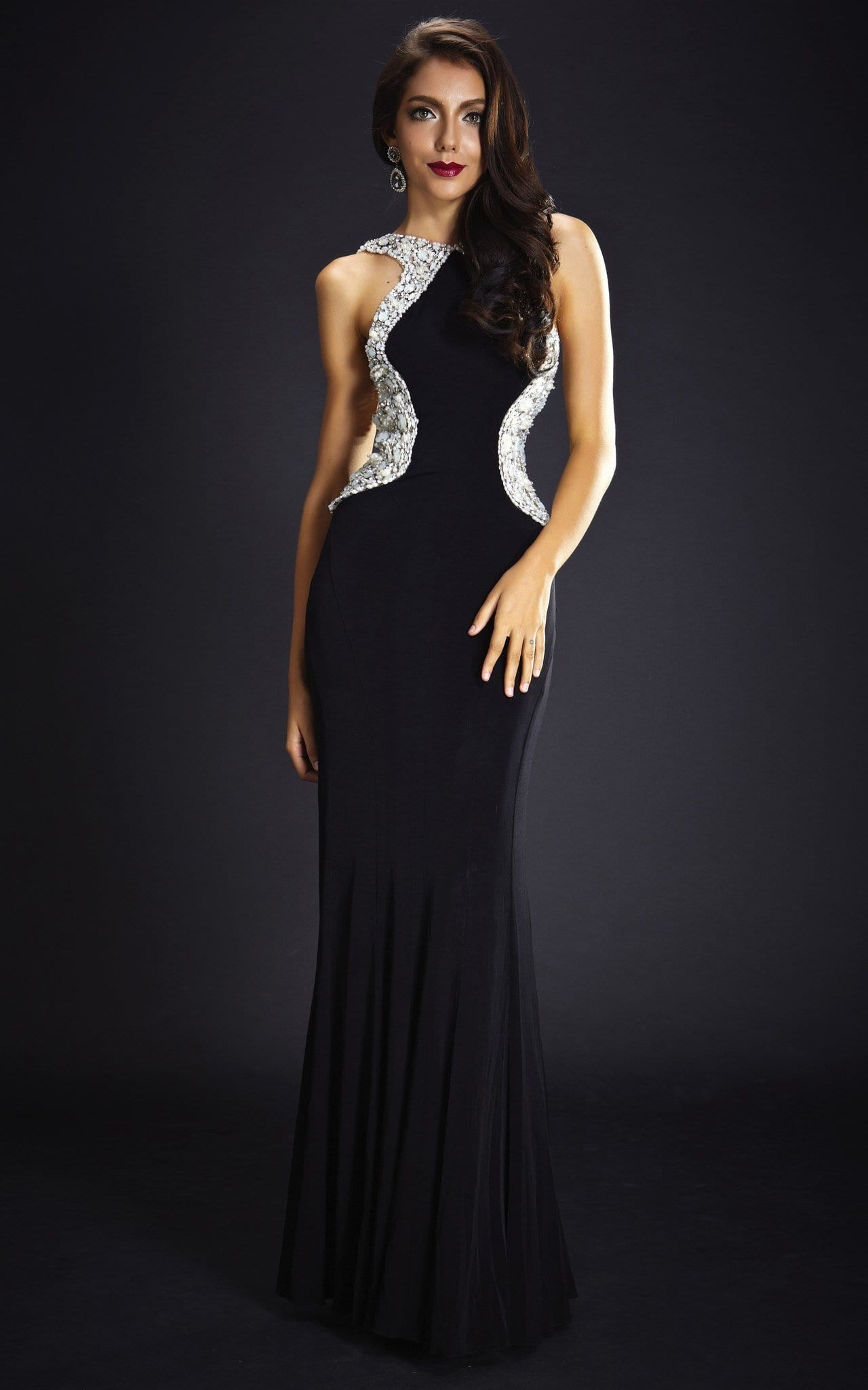 Sexy Black Evening Gown | The Kewl Shop