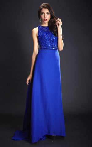 Stunning Princess Blue Evening Dress (Size 4)