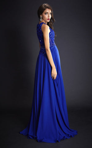 Stunning Princess Blue Evening Dress