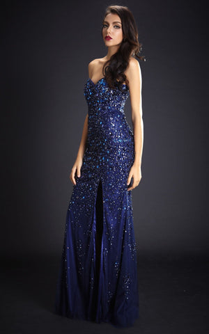 Sweetheart Royal Blue Long Evening Dress